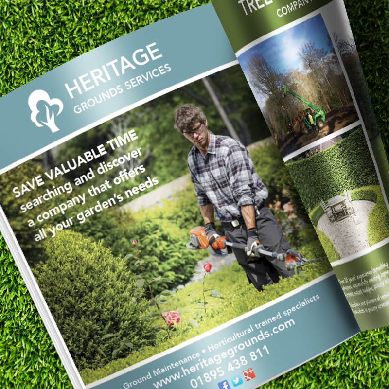 Magazine Advert for Heritage Grounds Services