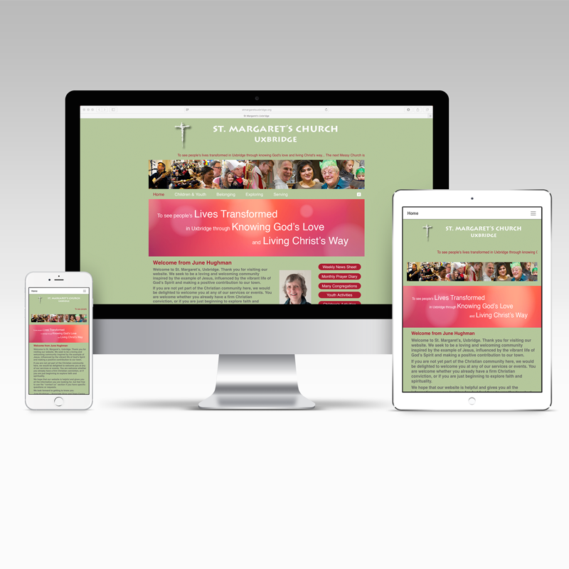 St. Margaret's Church Website Design