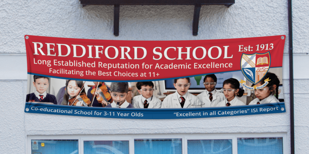 Reddiford School Outdoor Marketing Banners