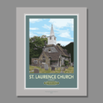 St Laurence Church Cowley Illustration
